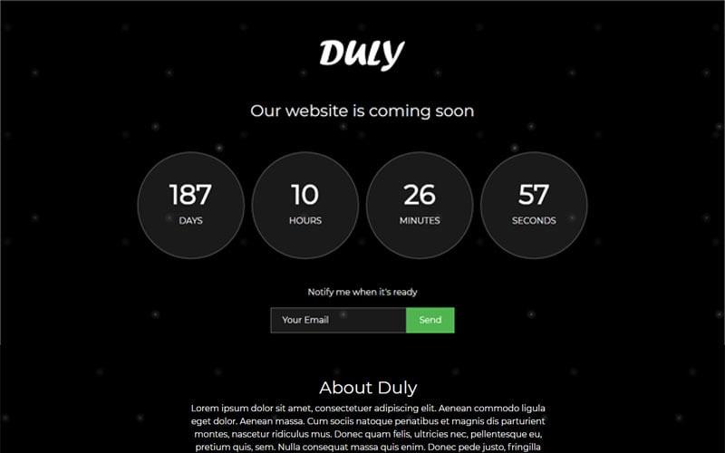 Duly - Çok Yakında Özel Sayfa