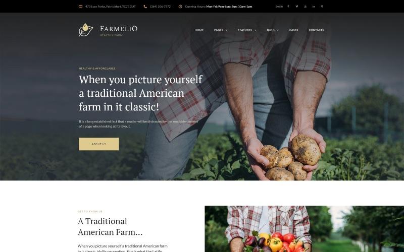 Farmelio - адаптивная тема WordPress для фермы