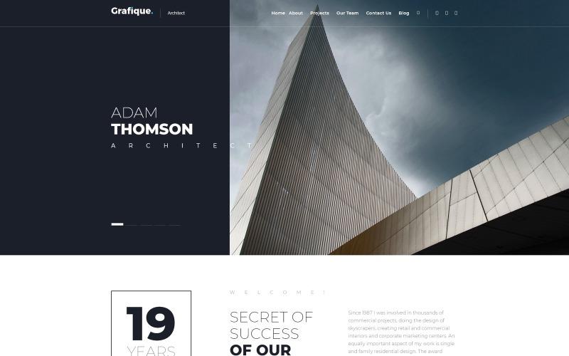 Grafique. - Thème WordPress gratuit Architect Lite