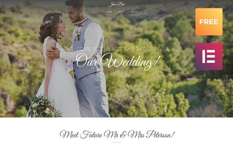 Jen + Ben - Wedding Planner WordPress Elementor Theme