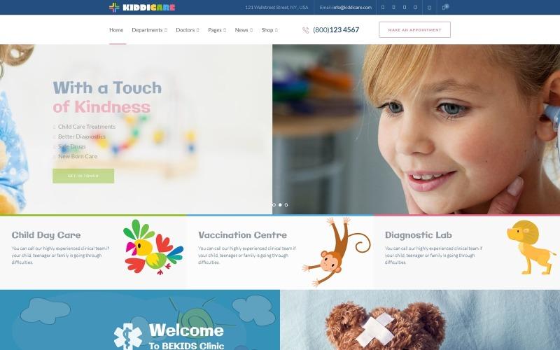 KiddiCare - Pediatric Clinic WordPress Theme