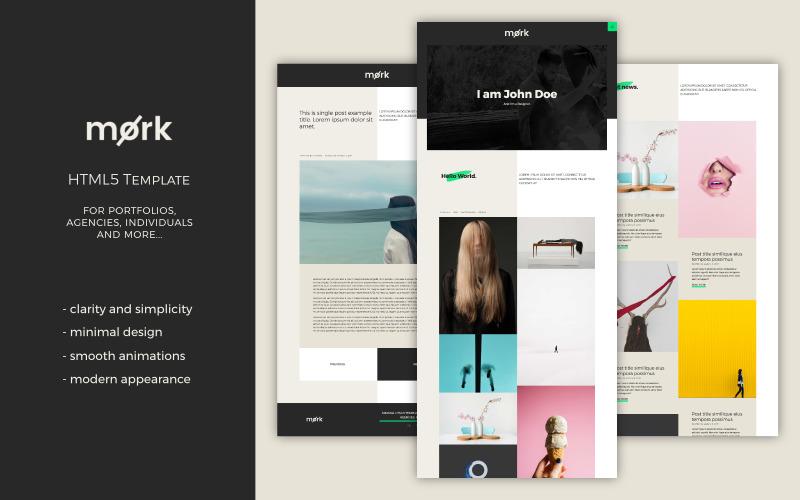 Mork - Minimal HTML5 Website Template