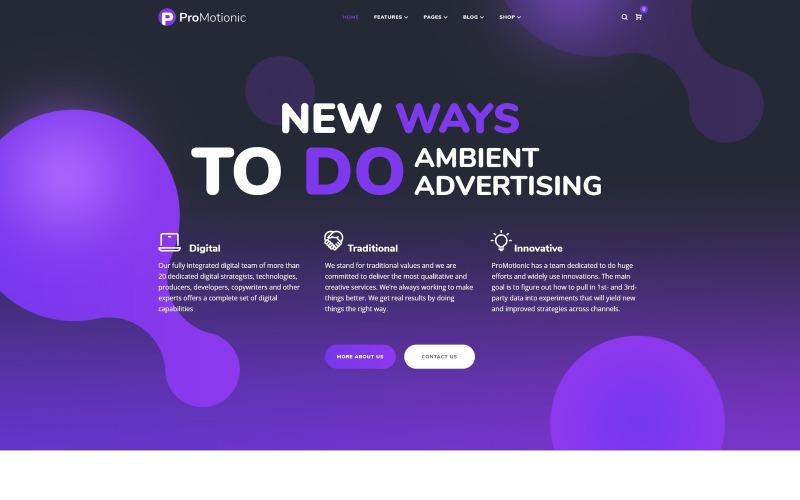 ProMotionic - Promotion Agency WordPress Theme