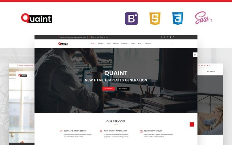 Quaint - biznesowy, uniwersalny szablon strony internetowej