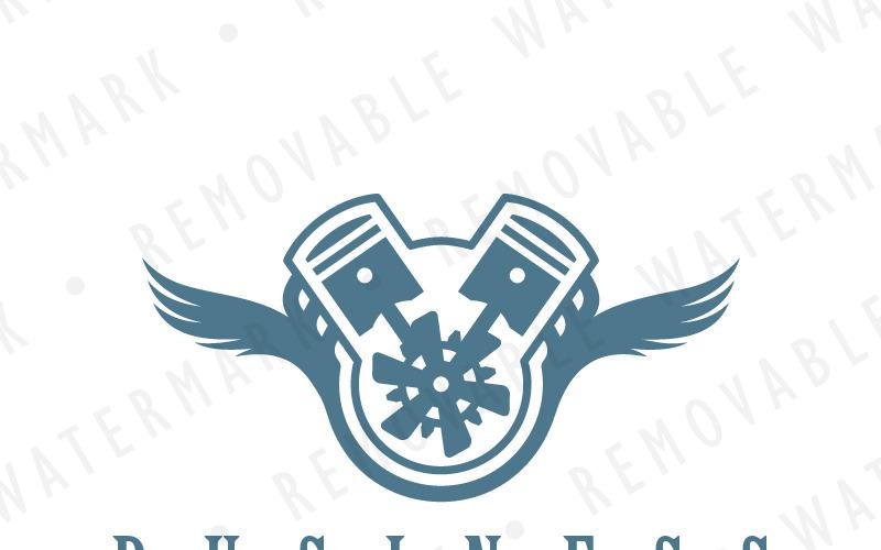 Шаблон логотипа крылатый двигатель