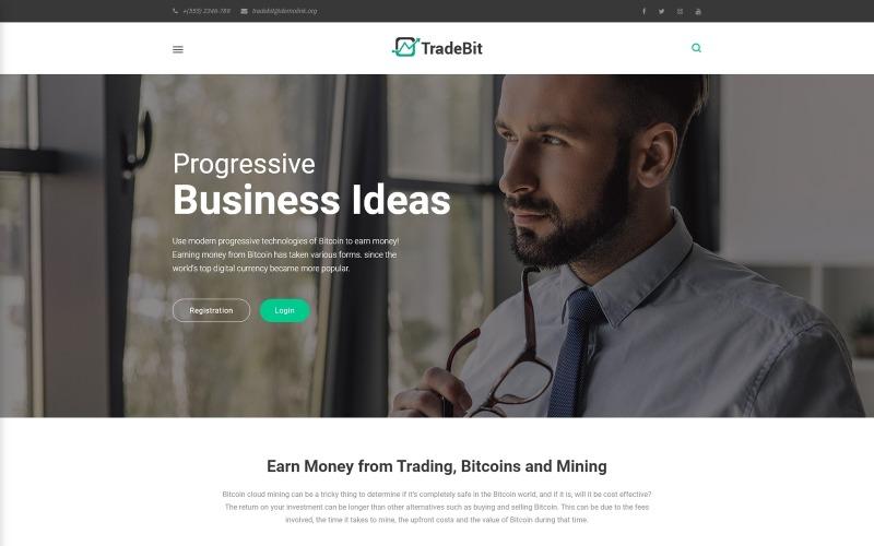 TradeBit - тема торгівлі біткойнами WordPress