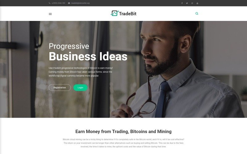 TradeBit - тема WordPress для торговли биткойнами