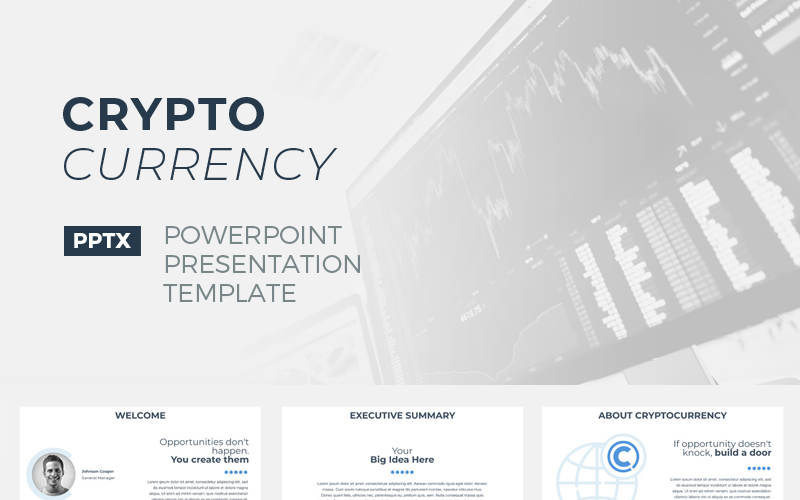 CryptoCurrency PowerPoint模板