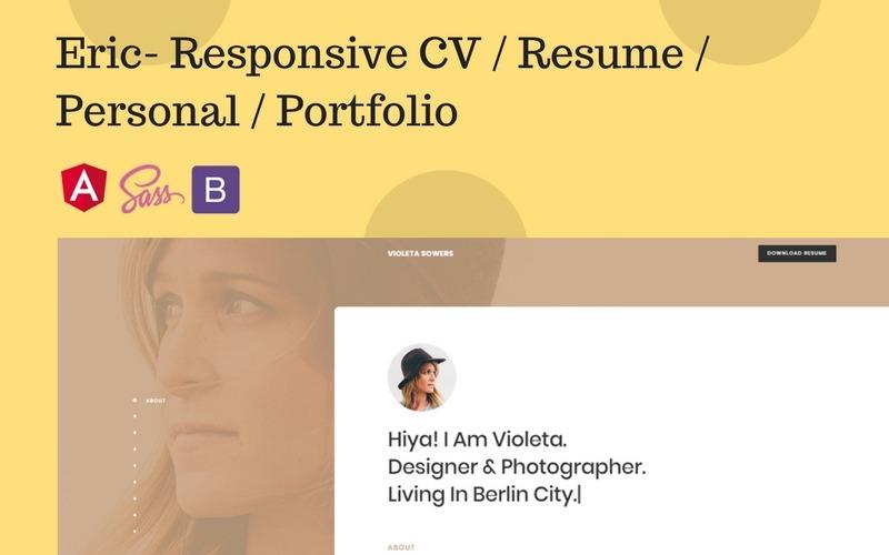 Eric- Responsive CV / Resume / Personal / Portfolio Website Template