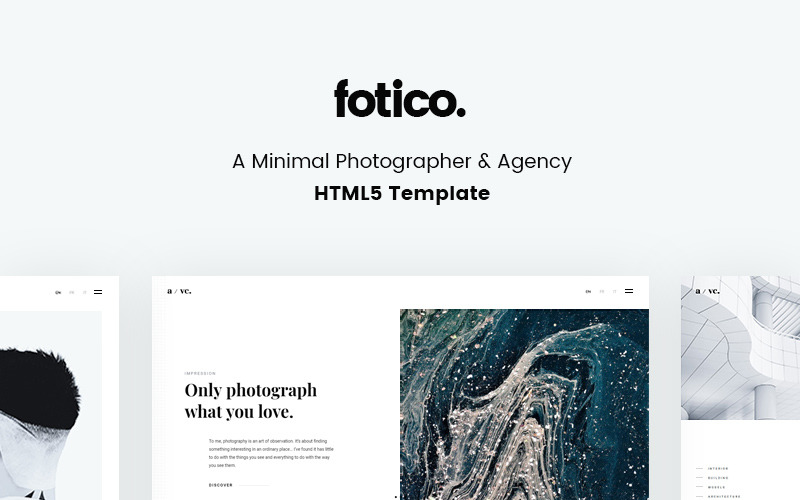 Fotico - Minimal Photographer & Agency HTML5 Website Template