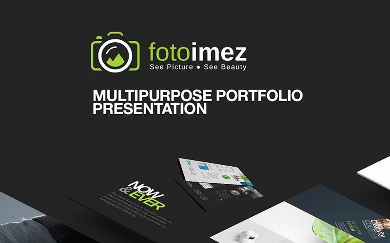 FotoImez | Szablon PowerPoint dla fotografii portfolio i prezentacji produktów