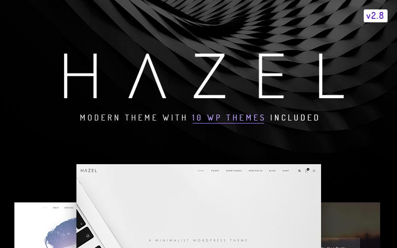 Hazel - чиста мінімалістична багатоцільова тема WordPress