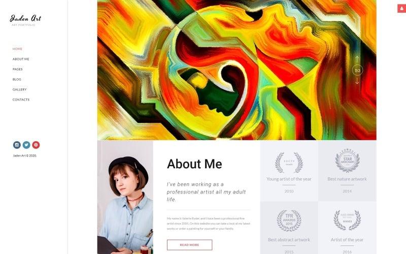 Jaden Art - Art Portfolio Joomla Template