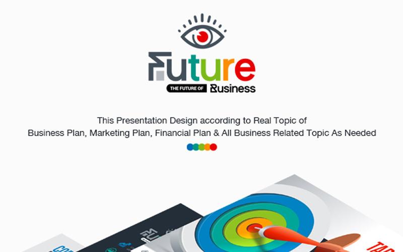 Präsentation des Geschäftsplans   Animiertes PPTX, PowerPoint-Vorlage für Infografik-Design
