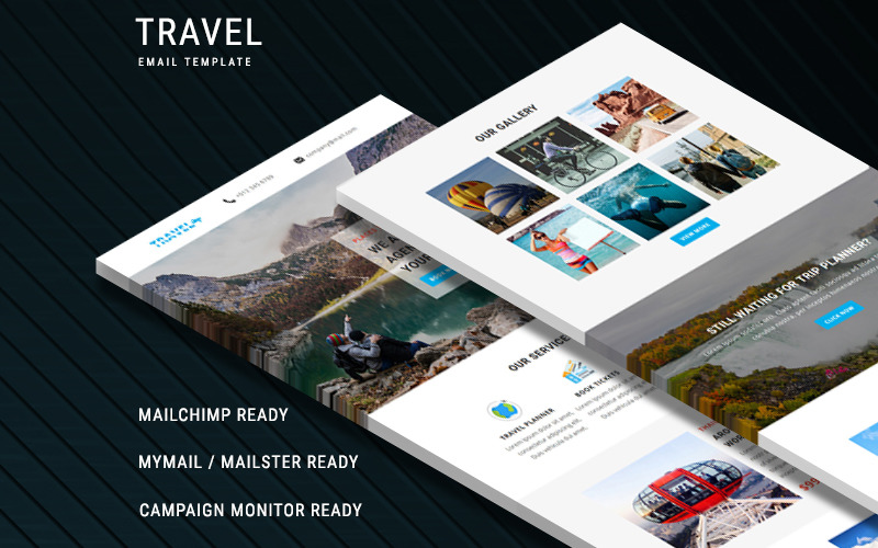 Путешествия - шаблон адаптивного электронного письма