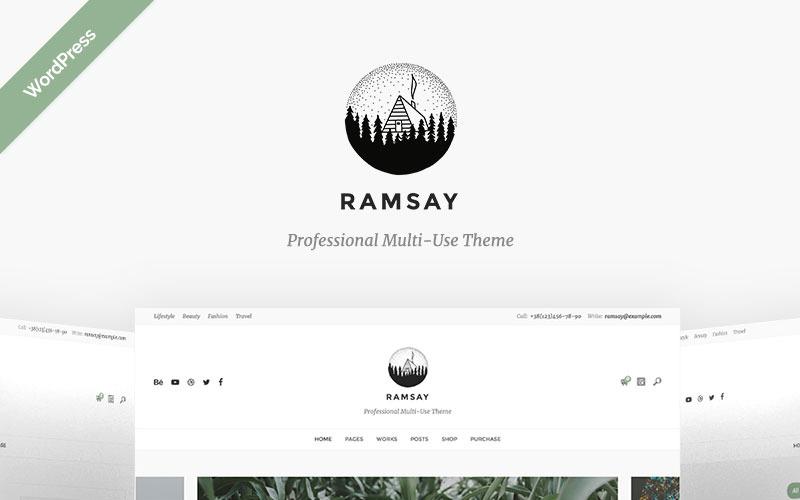 Ramsay - Multi-Conceptual Blog & Portfolio WordPress Theme