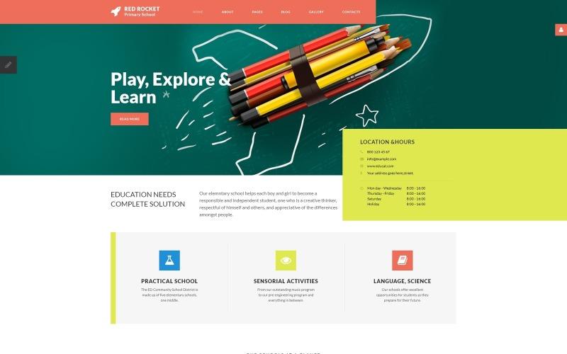 Red Rocket - Plantilla Joomla de escuela primaria