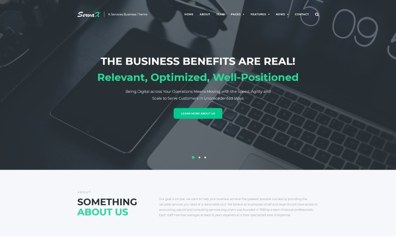 ServaX - IT Services Business WordPress Teması