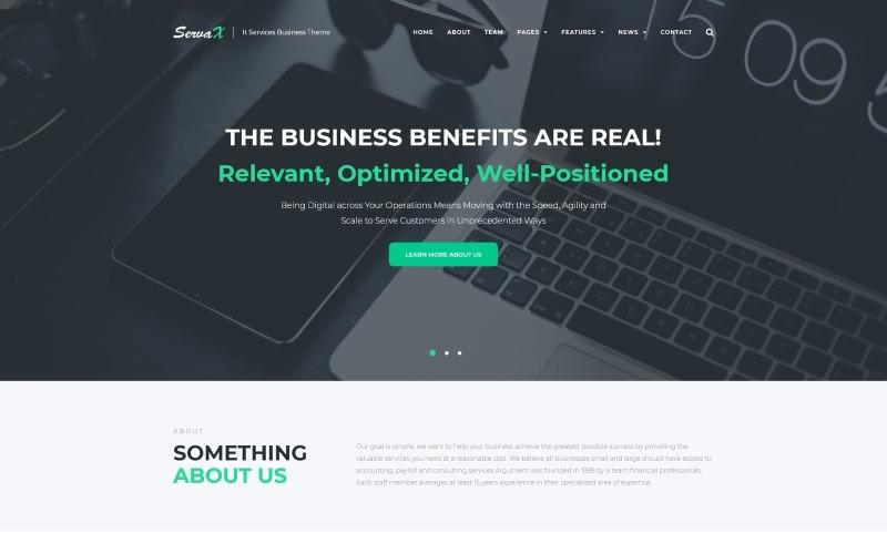 ServaX - тема WordPress для бизнеса ИТ-услуг