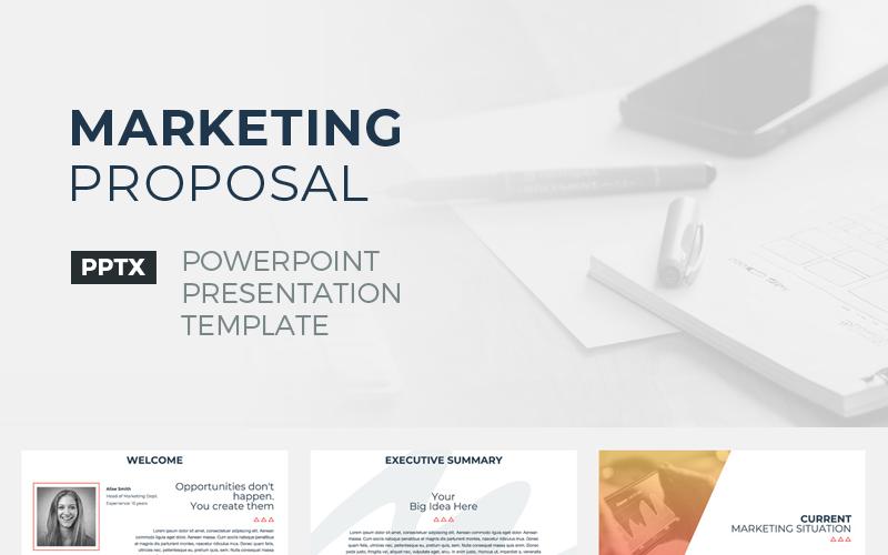 Szablon PowerPoint Marketing Propozycja
