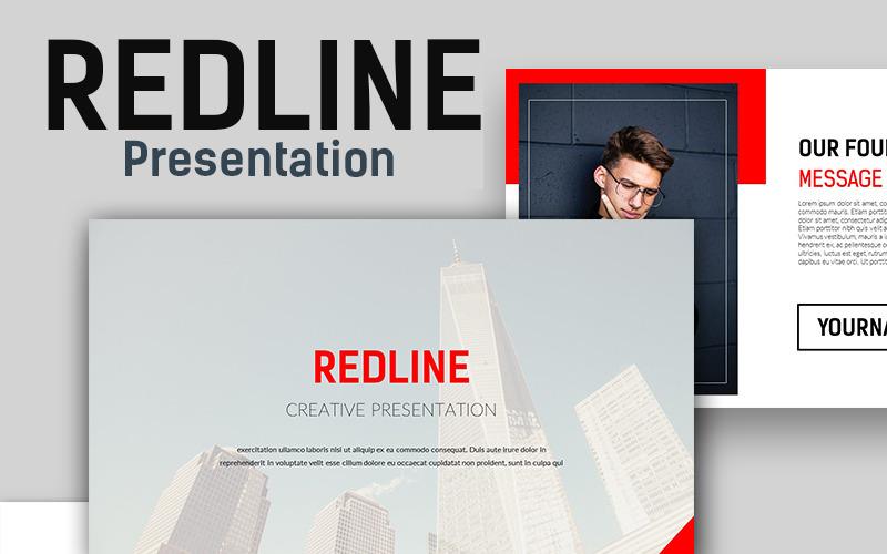 Szablon Redline Creative PowerPoint