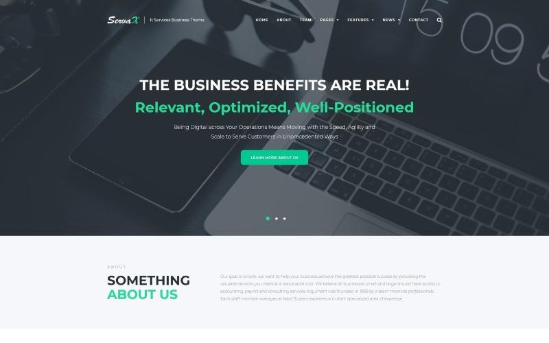 WordPress téma ServaX - IT Services Business