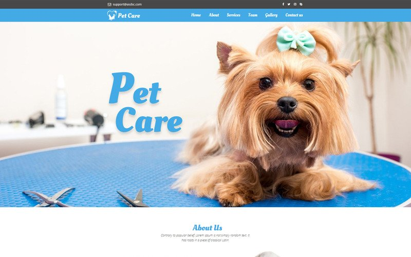 Dog Responsive - Unbounce template
