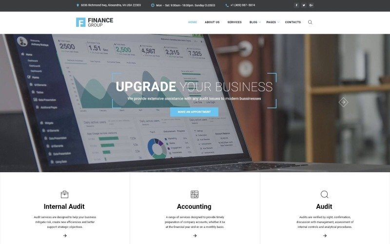 Finance Group - Accounting & Audit Multipage HTML Website Template
