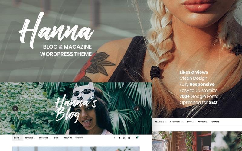 Hanna - Um lindo tema para WordPress para blog e revista