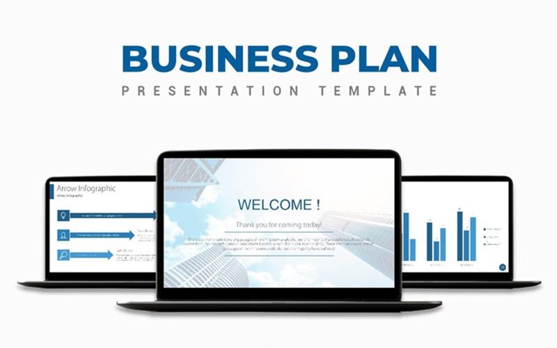 Modelo de plano de negócios em PowerPoint