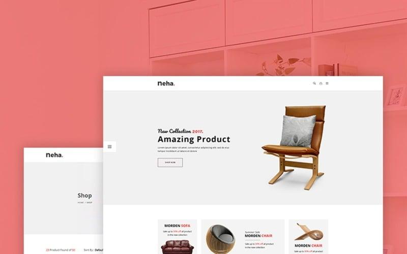 Neha - Modèle de site Web de commerce électronique polyvalent