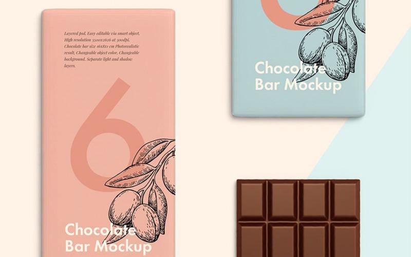 Çikolata Bar Ürün Mockup'ı