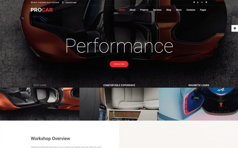 ProCar - Car Parts Multipage HTML Website Template
