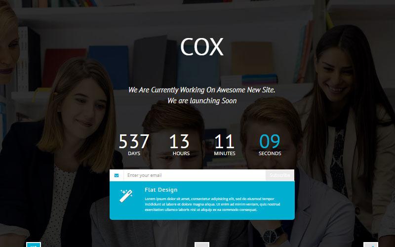 Cox - Yakında HTML5 Özel Sayfası