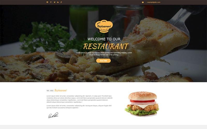 Restaurant - Unbounce template