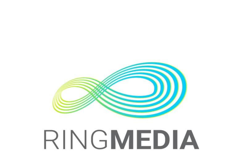 Ring Media - шаблон логотипа