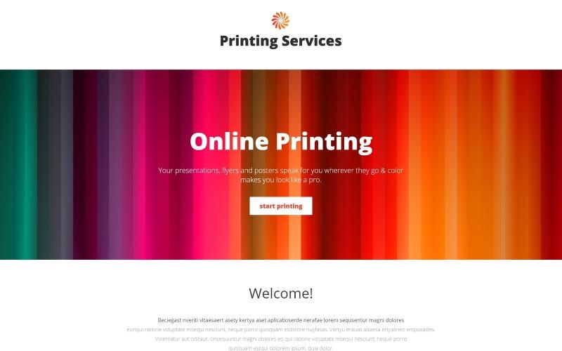Servicios de impresión: impresión en línea con la plantilla de página de destino de Novi Builder