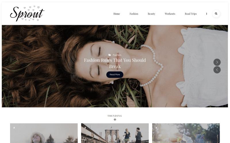 Sprout - Tema WordPress de Blog Pessoal
