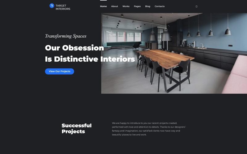 Terra Interior - WordPress тема дизайна интерьера