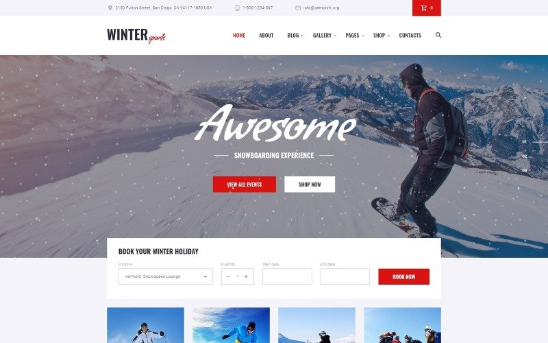 Winter Sports - Multipage Winter Sports Equipment Store HTML Website Template