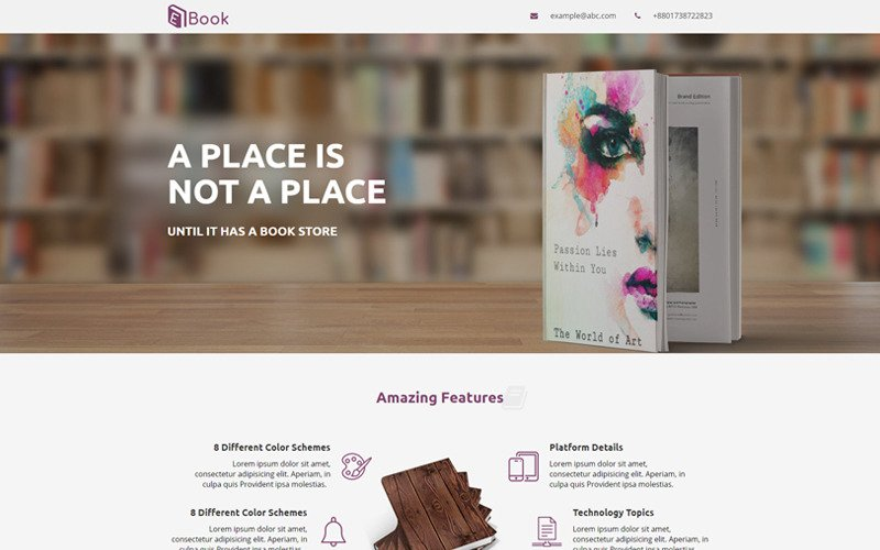 Book Reviews Responsive - Unbounce template
