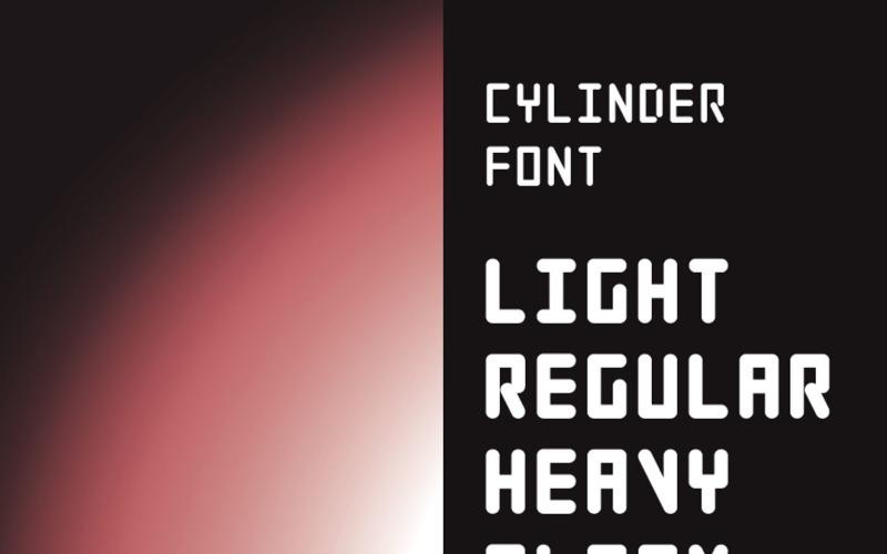 Cylinder  Family Font