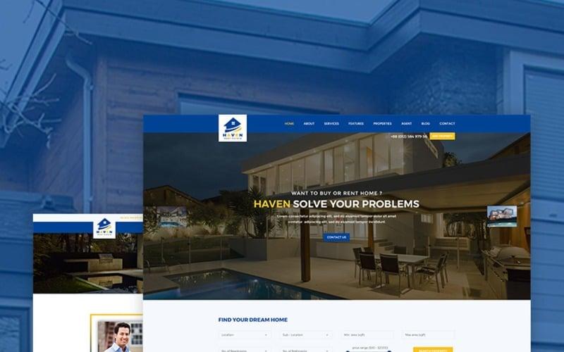 Haven Real Estate Website Template 67385