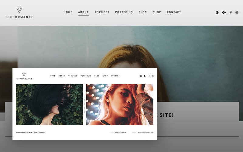 Виконання портретів Фотографія WordPress тема
