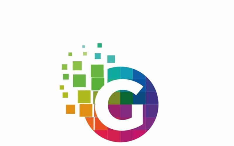 Письмо Gemicon G - шаблон логотипа