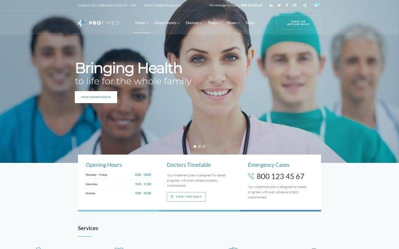Profimed - Tema WordPress per siti Web medici