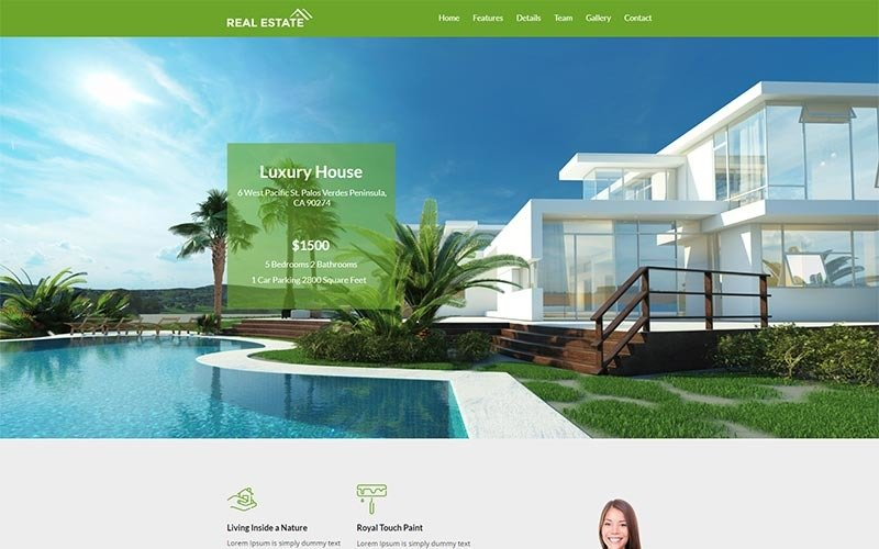 Real Estate Agency Responsive - Unbounce template
