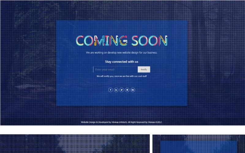 Maks Yakında Sayfa Geliyor - Bootstrap 4 Duyarlı HTML Özel Sayfası