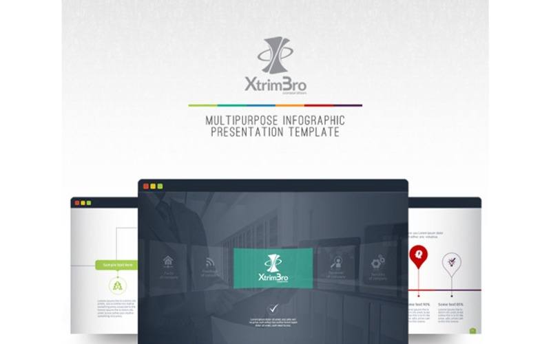 XtrimBro - uniwersalny szablon prezentacji PowerPoint Infographic