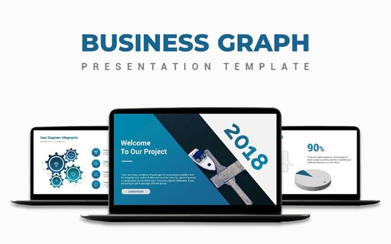 Szablon prezentacji wykresu biznesowego PowerPoint